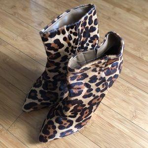 Joie Leopard Stiletto Bootie